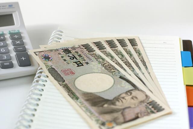 お金とノートと電卓