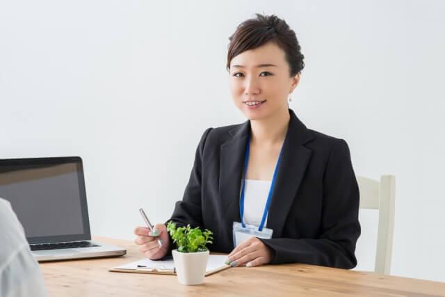 サービス業の女性